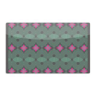 KESS InHouse Deepti Munshaw 'Pattern #3 (Version 2)' Green Pink Artistic Aluminum Magnet