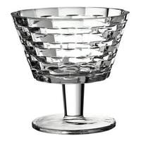 F&D Clear Crystal Rattan Footed Bowl