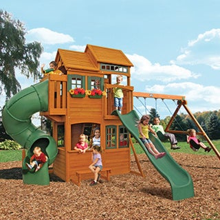 Cedar Summit Shelbyville Deluxe Wooden Play Set