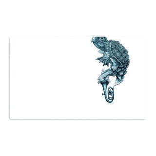 KESS InHouse Graham Curran 'Turtle Tuba' Artistic Aluminum Magnet