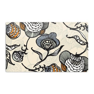 KESS InHouse Gill Eggleston 'Future Nouveau' Tan Floral Artistic Aluminum Magnet