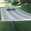 Prime Garden Multicolor Polyester/Cotton 2-person Quilted Hammock with Pillow and Hardwood Spreader Bars