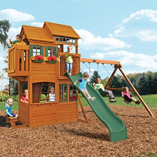 Big Backyard Somerset Lodge Wooden Play Set