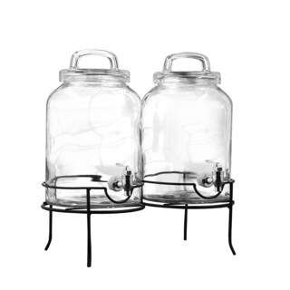Savannah Double Beverage Dispenser Set