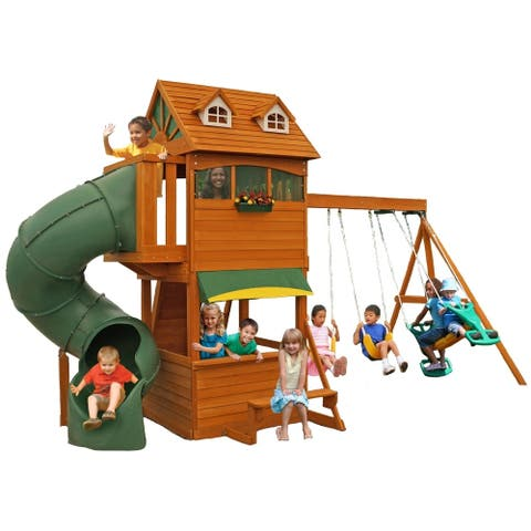 KidKraft Forest Hill Retreat Wooden Play Set