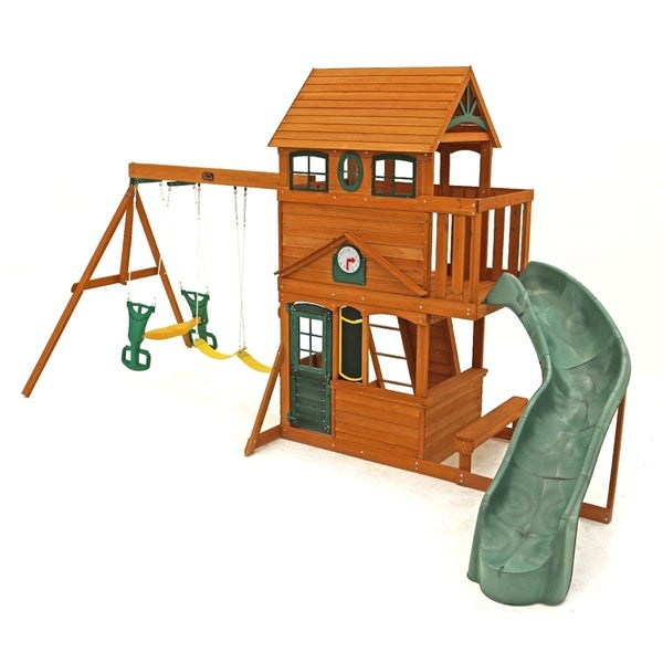 Shop Kidkraft Ashberry Ii Wood Play Set Cedar Free Shipping