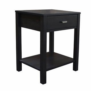 222 Fifth Grey Finish Acacia Wood Mercer Nightstand