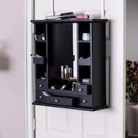 Porch & Den Angelus Over-the-Door Makeup/ Jewelry Mirror and Accessory Storage