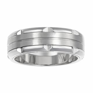 Men's Stainless Steel Dual FInish Band