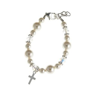 Crystal Dream Luxury Swarovski Element Christening Sterling Silver Baby Bracelet