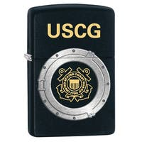 Zippo USCG Black Matte Windproof Lighter