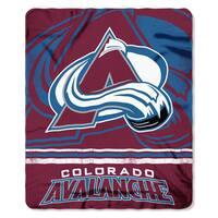 NHL 031 Avalanche Fade Away Fleece Throw
