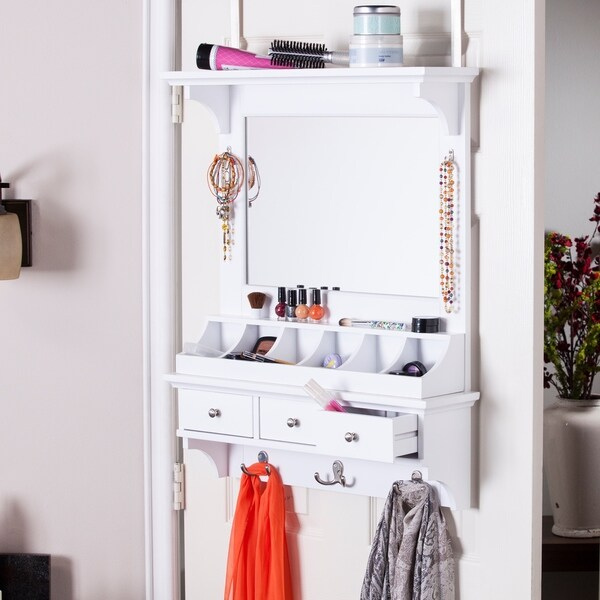 harper blvd desi over the door makeup mirror accessory organizer free shipping today. Black Bedroom Furniture Sets. Home Design Ideas