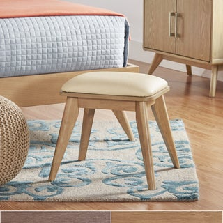 MID-CENTURY LIVING Penelope Danish Modern Cushioned Top Vanity Stool