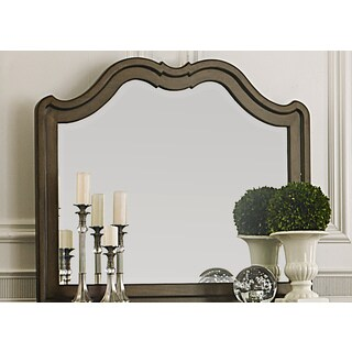 Cotsworld Scalloped Shaped Mirror - Cherry