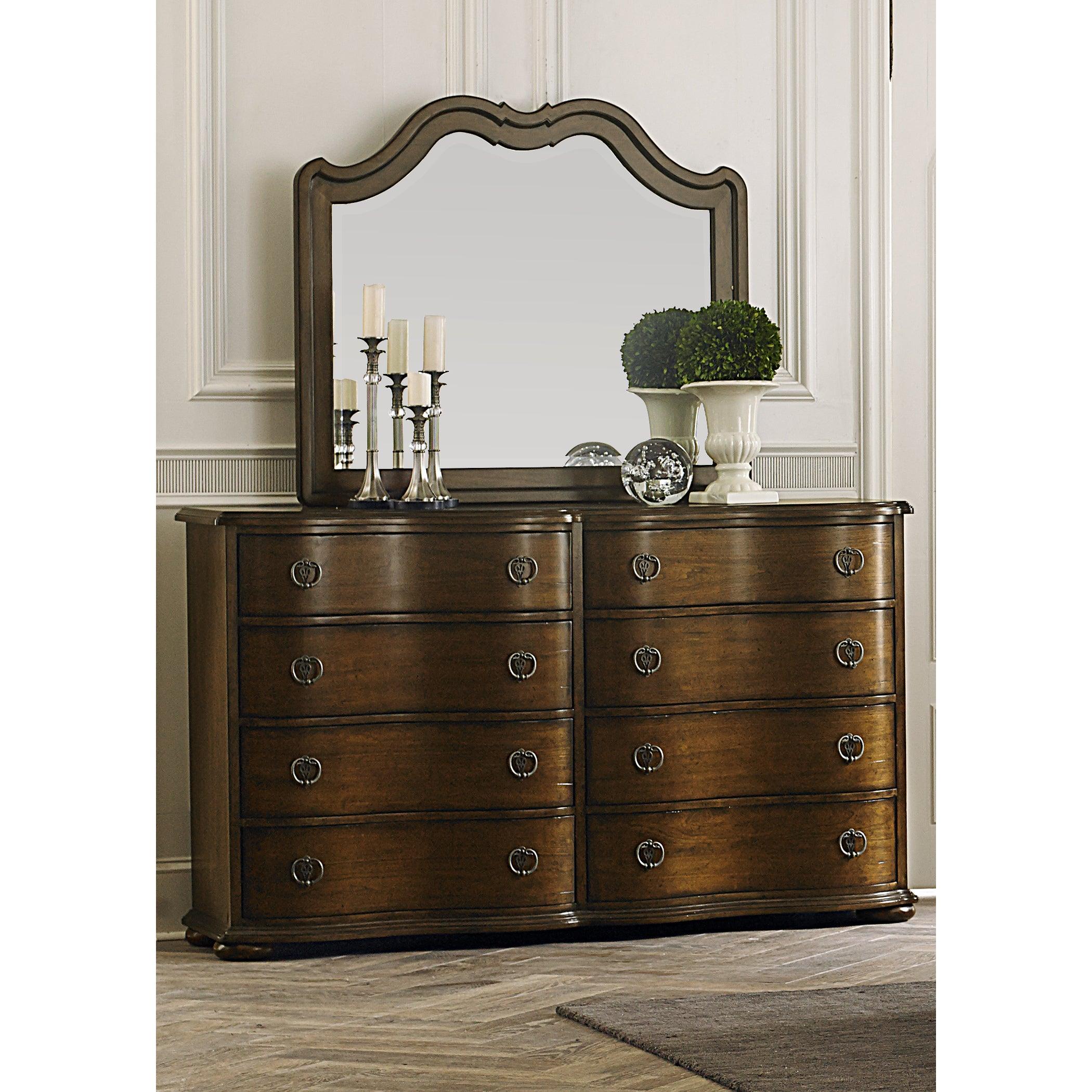 Shop Cotsworld Serpentine Shaped 8-Drawer Dresser& Mirror ...