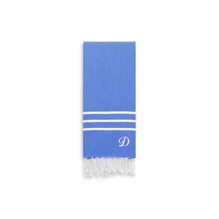 Authentic Ella Royal Blue Monogrammed Pestemal Fouta Turkish Cotton Hand/Kitchen Towel