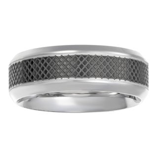 Men's Stainless Steel Textured Band