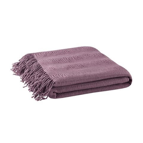 Copper Grove Peshkopi Ruched Throw (4 Color Options)
