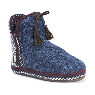Muk Luks Women's Amira Blue Faux-fur Slippers