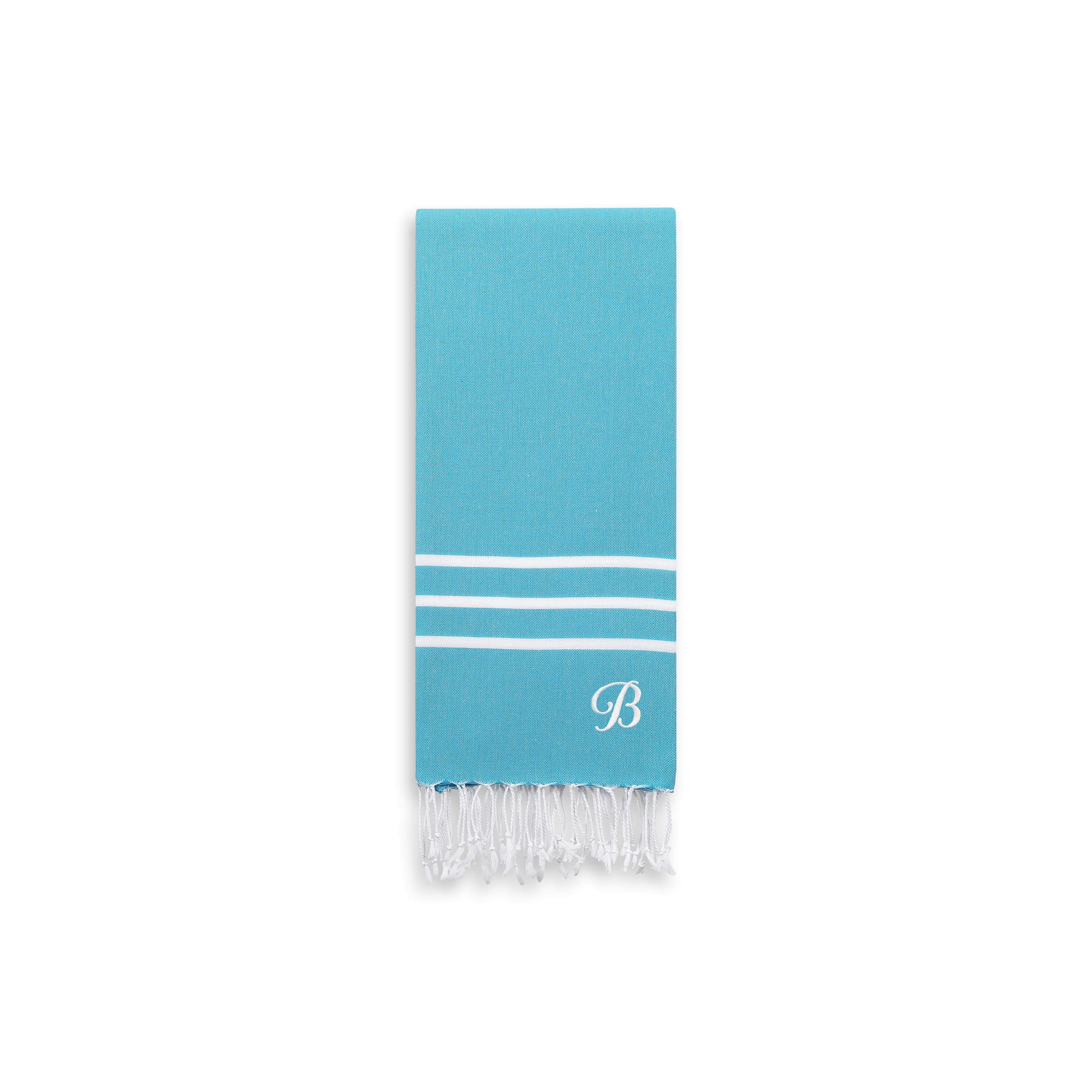Authentic Ella Turquoise Blue Monogrammed Pestemal Fouta ...