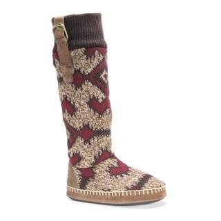 Muk Luks Women's Angela Brown Polyester Slippers