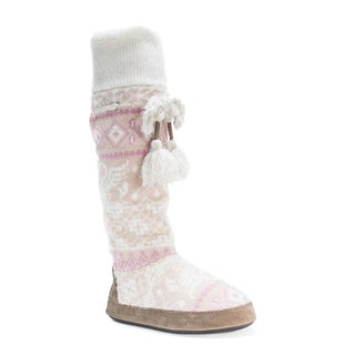 Muk Luks Women's Angie Pink Acrylic Polyester Slippers