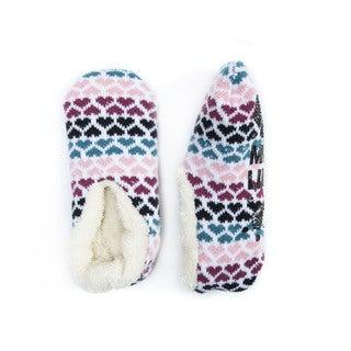 MUK LUKS Women's Pink Acrylic/Polyester Ballerina Slippers