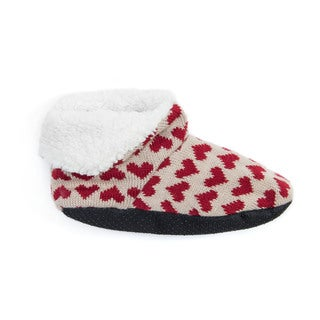 MUK LUKS Women's Red Bootie Slippers