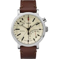Timex Unisex TW2P92400 Metropolitan+ Brown Stitched Leather Strap Watch