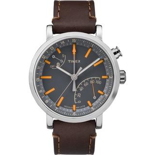 Timex Unisex TW2P92300 Metropolitan+ Watch with Dark Brown Stitched Leather Strap (Option: Black)