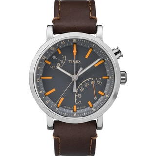 Timex Unisex TW2P92300 Metropolitan+ Watch with Dark Brown Stitched Leather Strap