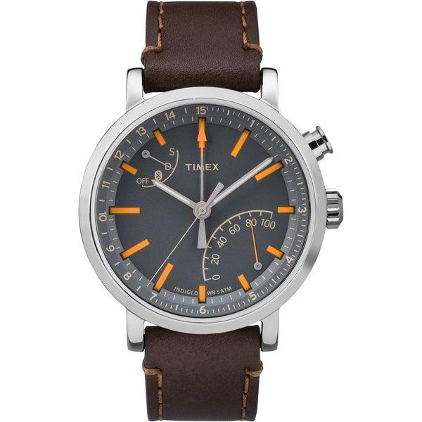 Timex Unisex TW2P92300 Metropolitan+ Dark Brown Stitched Leather Strap Watch