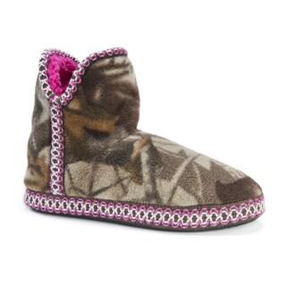 Muk Luks Women's Camo Amira Fleece Slippers