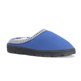 MUK LUKS Women's Blue Fleece Clogs