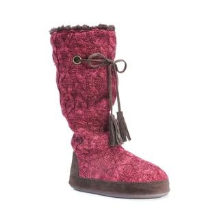 Muk Luks Women's Grace Red Acrylic/Polyester Slippers