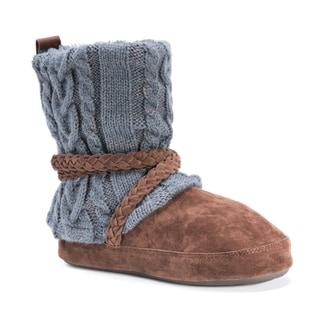 Muk Luks Women's Judie Grey Acrylic/Polyester/Faux Fur Slippers