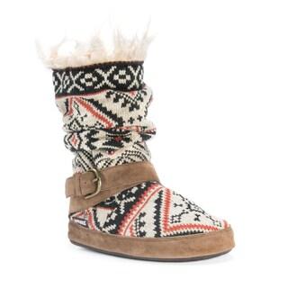 Muk Luks Women's Lisen Acrylic/Polyester Slippers