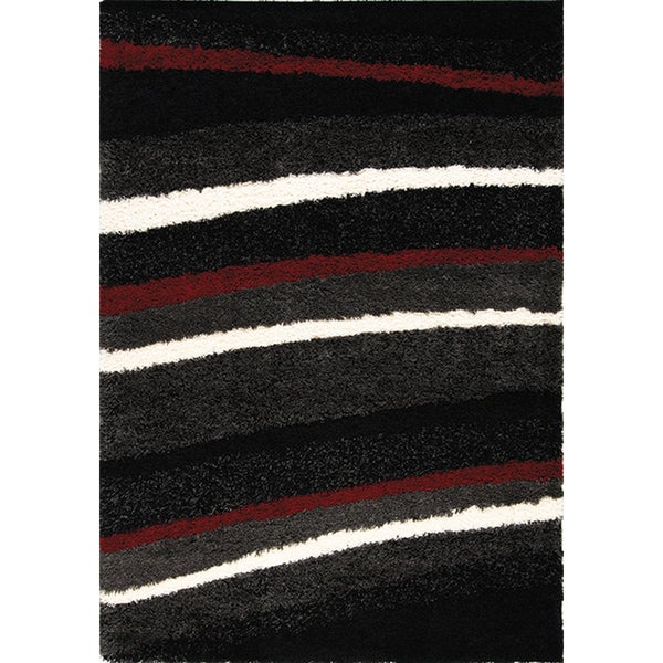 Shilo Red White Stripes Rug 6 7 X 9 6 6 7 X 9 6
