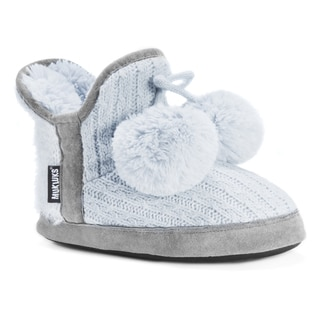 Muk Luks Women's Pennley Blue Acrylic/Polyester Slippers