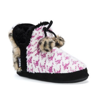 Muk Luks Women's Pennley Pink Acrylic/Polyester Slippers