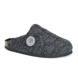 Muk Luks Women's Sherpa Black Acrylic/Polyester Lined Clog