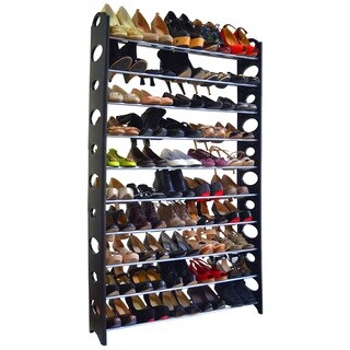 Black 50-pair Shoe Rack