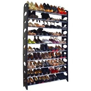 Black 50-pair Shoe Rack