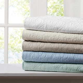 Madison Park Mansfield Oversized Quilted Throw 5-Color Option|https://ak1.ostkcdn.com/images/products/12128555/P18986331.jpg?impolicy=medium