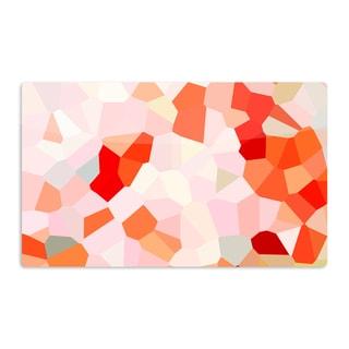 KESS InHouse Iris Lehnhardt 'Oooh La La' Orange Pixel Artistic Aluminum Magnet