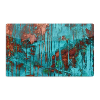 KESS InHouse Iris Lehnhardt 'Rusty Teal' Paint Teal Artistic Aluminum Magnet
