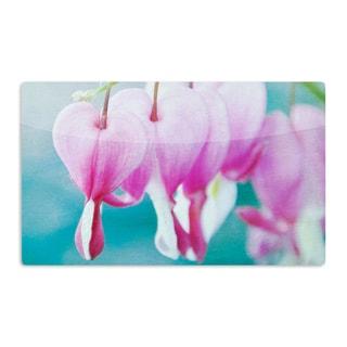 KESS InHouse Iris Lehnhardt 'Dicentra' Teal Pink Artistic Aluminum Magnet