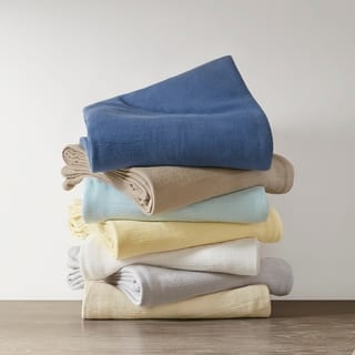Madison Park Freshspun Basketweave Cotton Blanket https://ak1.ostkcdn.com/images/products/12128671/P18986578.jpg?impolicy=medium