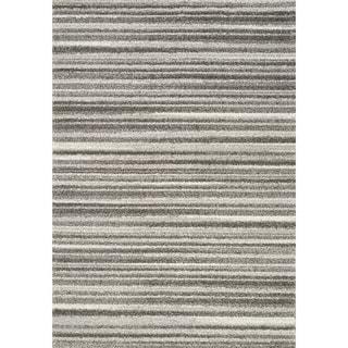 Sielle Grey/ White Thin Stripes Rug (5'3 x 7'7)
